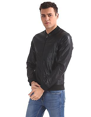 Arrow Sports Perforated Panel Bomber Jacket