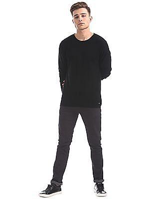Ed Hardy Round Neck Patterned Sweater