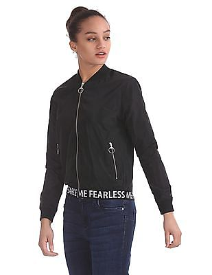 Flying Machine Women Long Sleeve Bomber Jacket