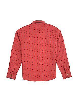 Cherokee Boys Long Sleeve Star Print Shirt