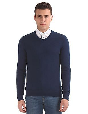Nautica Long Sleeve Merino Wool Sweater