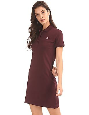 Aeropostale Solid Pique Polo Dress