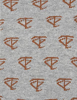 Flying Machine Sailboat Pattern Quarter Socks - Pack Of 3