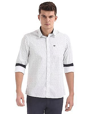 Arrow Sports Slim Fit Patterned Shirt