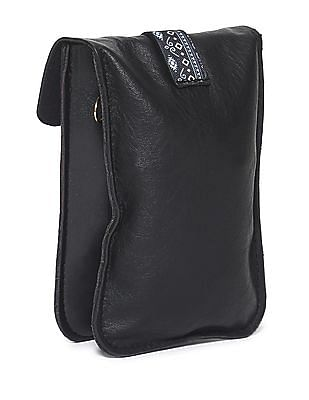 SUGR Black Tasselled Flap Sling Bag