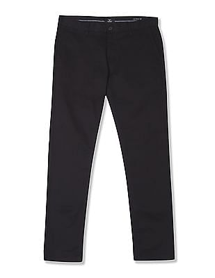 Flying Machine Slim Tapered Fit Flat Front Trousers