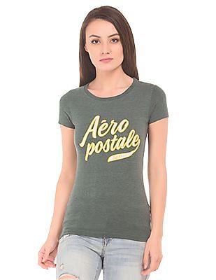 Aeropostale Applique Heathered T-Shirt