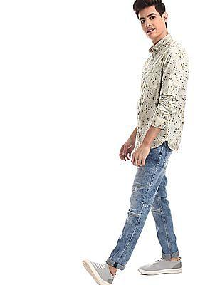 Ed Hardy Blue Dagger Slim Fit Stone Wash Jeans