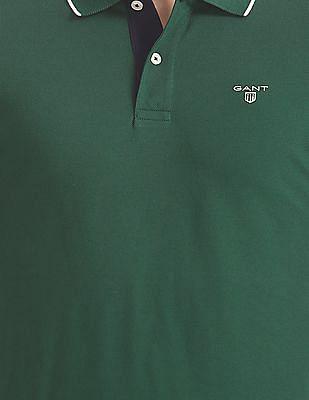 Gant Original Tech Prep Pique Long Sleeve Rugged Polo Shirt