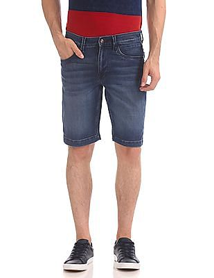 U.S. Polo Assn. Denim Co. Comfort Slim Fit Washed Denim Shorts