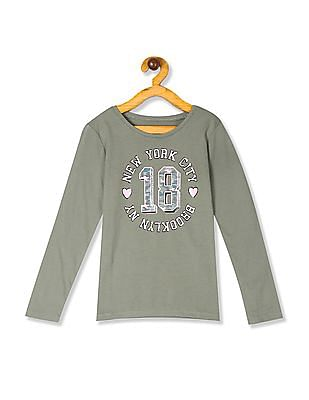 The Children's Place Girls Long Sleeve 'New York City' Graphic Tee