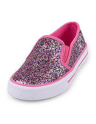 The Children's Place Baby Girl Shine Slip On Shoes