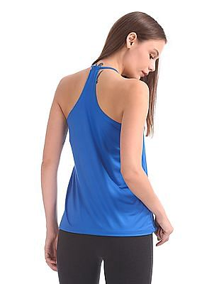 SUGR Heathered Active Twofer Top