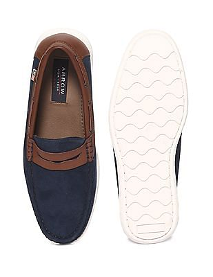 Arrow Sports Colour Block Penny Loafers