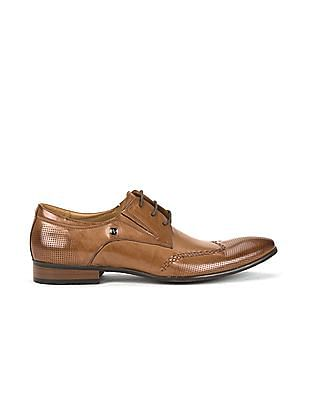 Arrow Perforated Derby Shoes