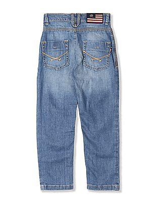 U.S. Polo Assn. Kids Blue Boys Stone Wash Jeans