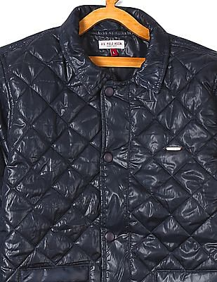 U.S. Polo Assn. Kids Boys Quilted Hooded Jacket