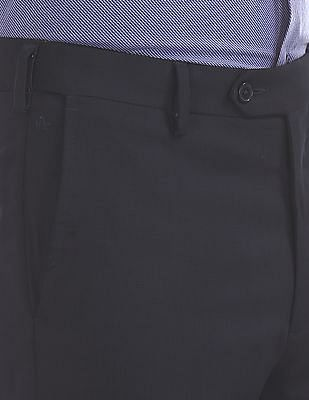 Arrow Smart Fit Autoflex Flat Front Trousers