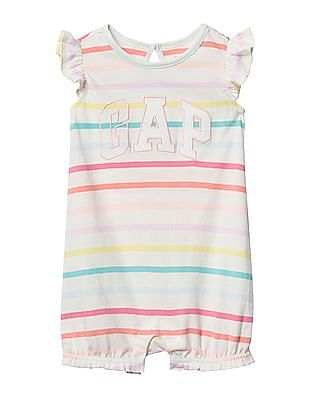21a82ac2bf94 Buy Baby Baby Logo Stripe Flutter Short One Piece online at NNNOW.com