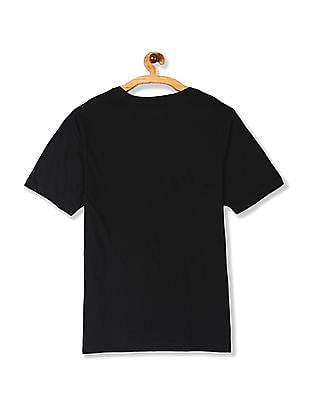 Colt Black Printed Front Crew Neck t-Shirt