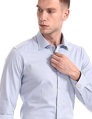 Arrow Patterned Giza Cotton Shirt