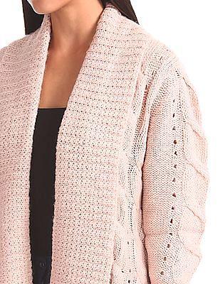 Elle Patterned Knit Open Front Shrug