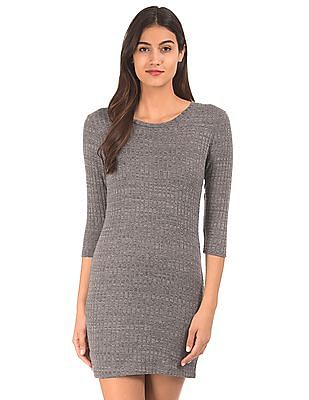 Cherokee Ribbed Knit Sweater Dress