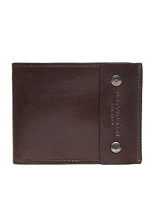 U.S. Polo Assn. Solid Leather Bi-Fold Wallet