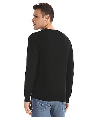 Ed Hardy Slim Fit Patterned Knit Sweater