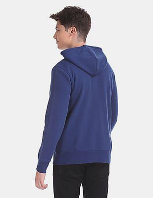 GAP Blue Appliqued Hooded Sweatshirt