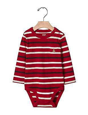GAP Baby Red Bright Stripe Bodysuit