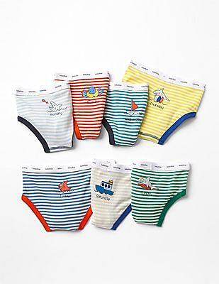 GAP Baby Assorted Ocean Days-Of-the-Week Underwear (7-pack)