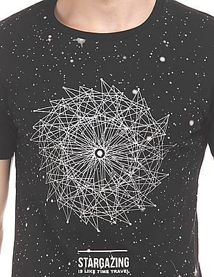 Flying Machine Glow In The Dark Print Slim Fit T-Shirt