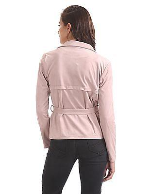 U.S. Polo Assn. Women Lapel Collar Open Front Shrug