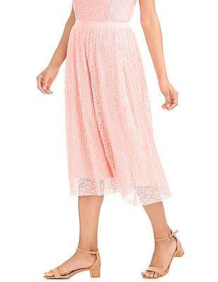 Elle Studio Lace Midi Skirt