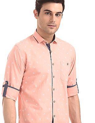Cherokee Regular Fit Printed Shirt