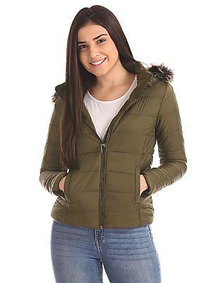 U.S. Polo Assn. Women Solid Puffer Jacket