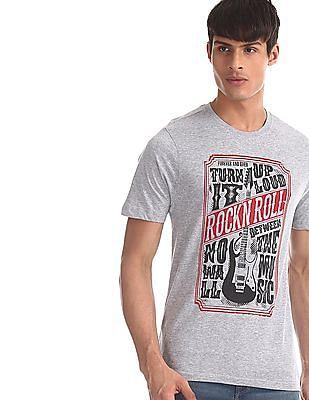 Colt Grey Crew Neck Graphic Print T-Shirt