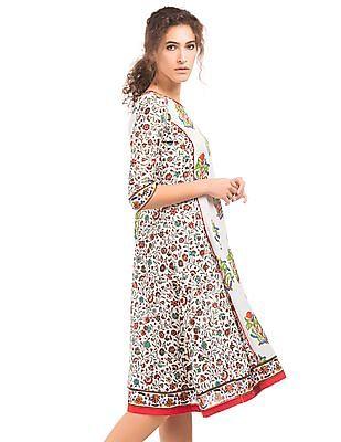 Anahi Floral Print Kalidar Kurta