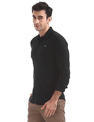 Ed Hardy Slim Fit Spread Collar Shirt