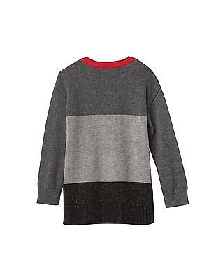 GAP Baby Grey Disney Minnie Mouse Colourblock Sweater Tunic