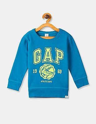 GAP Blue Toddler Boy Crew Neck Brand Graphic Sweatshirt