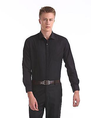 Excalibur Classic Regular Fit Patterned Weave Shirt