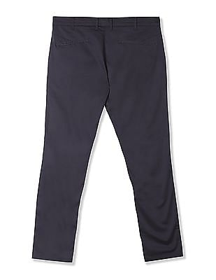 Flying Machine Slim Tapered Fit Solid Trousers