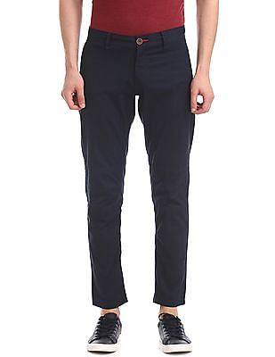 Cherokee Blue Slim Fit Panelled Trousers