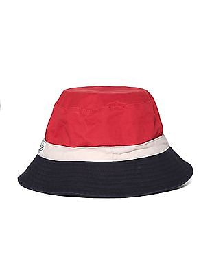 Flying Machine Colour Block Cotton Twill Bucket Hat
