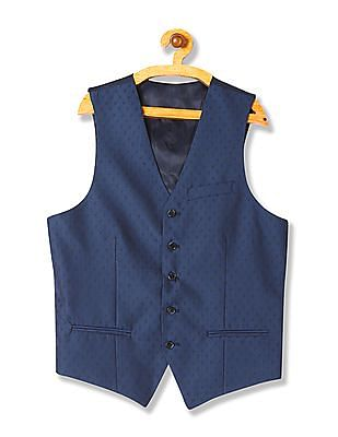 Arrow Slim Fit Jacquard Waistcoat