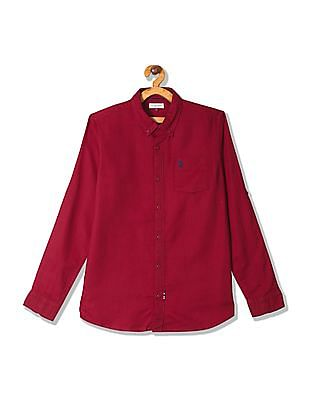 U.S. Polo Assn. Kids Boys Long Sleeve Button Down Shirt