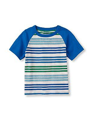 The Children's Place Toddler Boy Short Raglan Sleeve Striped Tee