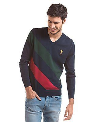 U.S. Polo Assn. Regular Fit V-Neck Sweater